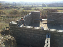 work progresses on the house neil has designed on an escarpment in lot-et-garonne2